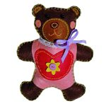Kleiber Felt Animal Kit – Heart Bear