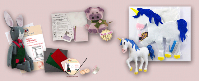 Craft Kits and Hand Sewing Tutorials from Dorothy Nell Craft