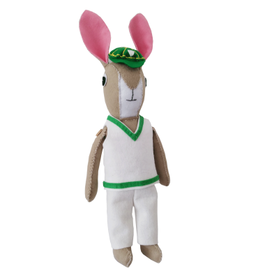 Bunny Cricket Mascot Sewing Kit