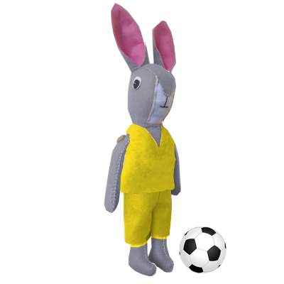 Bunny Football Mascot – Yellow