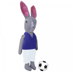 Bunny Football Mascot Blue
