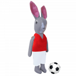 Bunny Football Mascot Sewing Kit Red, White
